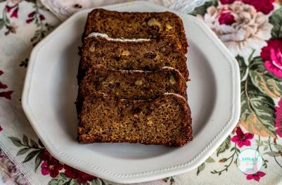 cake de platano y nnueces 1