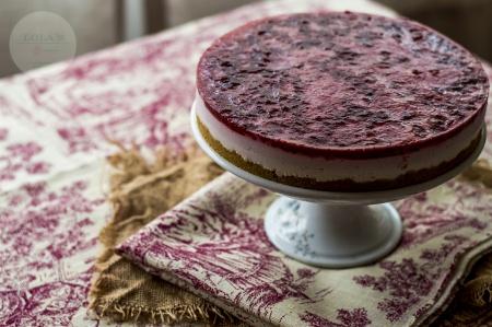 tarta de yogur y frutos rojos 5