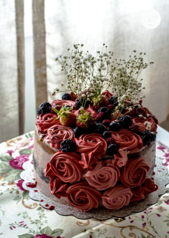 tarta rosas merengue